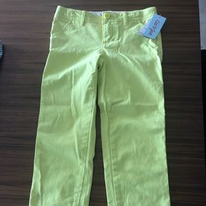 Cat & Jack bright yellow pants. New